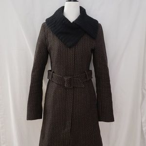 Soia&Kyo Tweed Wool Blend Pea Coat Size XS